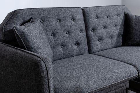 Terra Three Seater Sofa Bed, Anthracite Grey