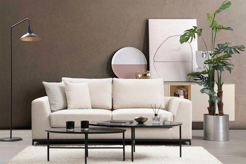 Soho Two Seater Sofa, Cream