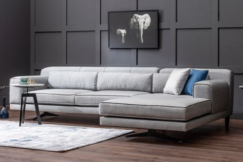Jivago Corner Sofa, Grey (Right)