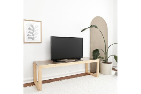 Neostyle Via Glass TV Stand, Wood, 130 cm