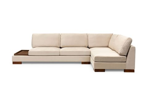 Tulip Corner Chaise Sofa, Right, Ecru