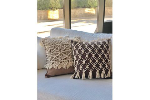 Macrame Violet Cushion Cover