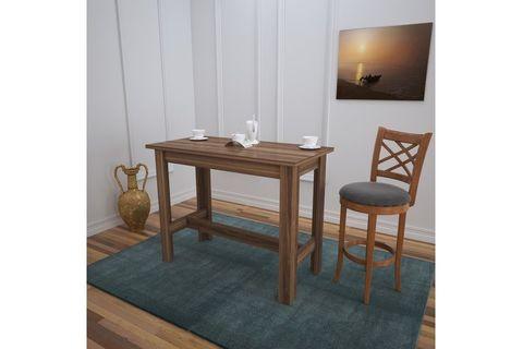 Pasific Barra 4 Seat Fixed Dining Table, Dark Wood