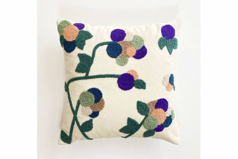 Floral Purple Cushion Cover