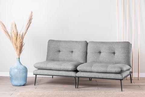 Futon Martin Three Seater Sofa Bed, Grey