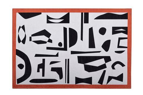 Mia Rug, 75 x 150 cm, Black & White