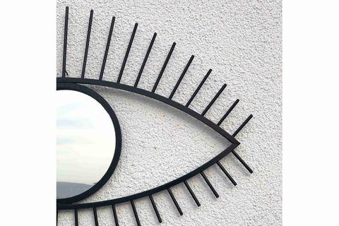 Eye Wall Mirror, Black (Large)