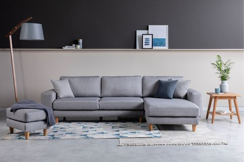 Merlin Corner Sofa, Grey (Right)
