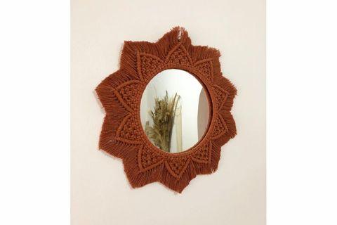 Macrame Mimi Mirror, Rust