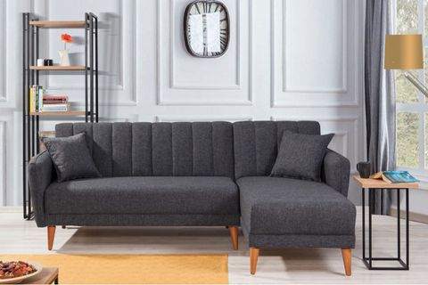 Aqua Corner Sofa Bed, Anthracite Grey (Right)