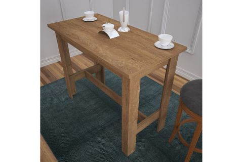 Pasific Barra 4 Seat Fixed Dining Table Table, Brown