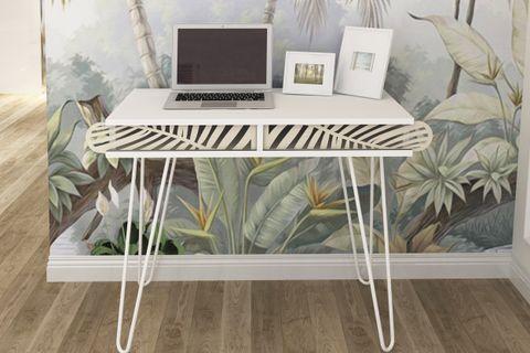 Illia Study Desk, White