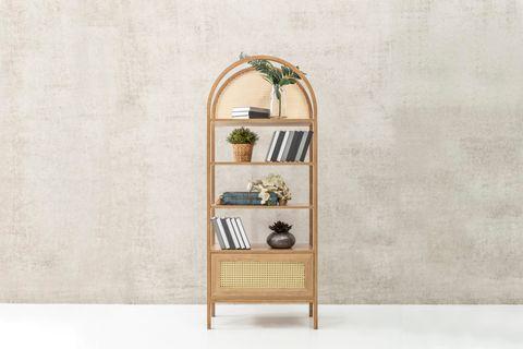 Nala Rattan Bookcase, Natural Wood