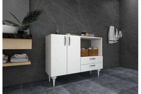 Ignis Multipurpose Bathroom Cabinet, White