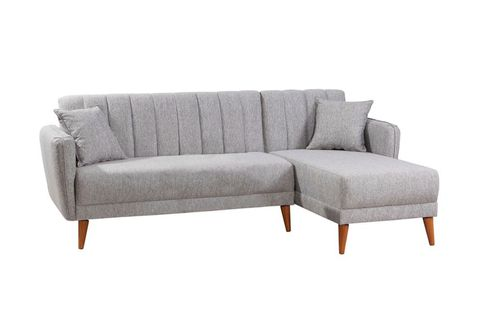 Aqua Corner Chaise Sofa Bed, Right, Grey