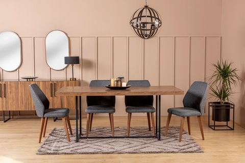 Pandora 6-10 Seat Fixed Dining Table, Walnut