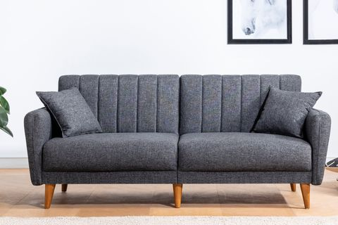 Aqua Three Seater Sofa Bed, Anthracite Grey