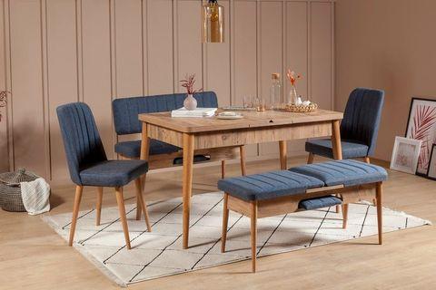 Vina 4-6 Seat Extendable Dining Table, Walnut