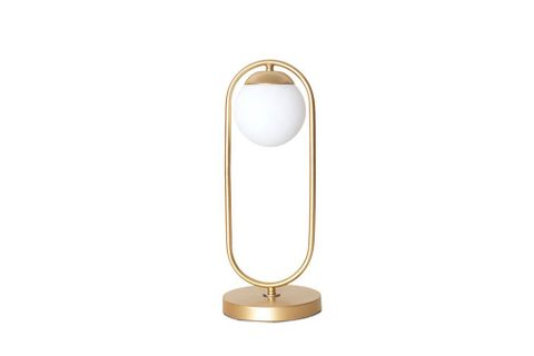Zenga Luxury Gold Table Lamp With White Glass Shade