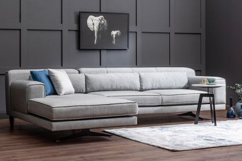 Jivago Corner Sofa, Grey (Left)