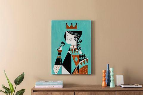 Queen of the Deck Art Print