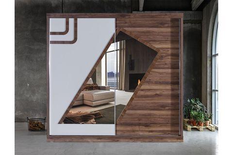 Lofts Wardrobe, White & Light Wood