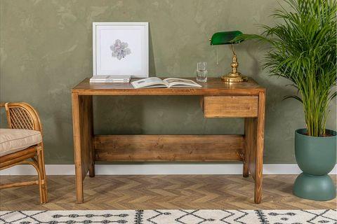 Matis Study Desk, Dark Wood