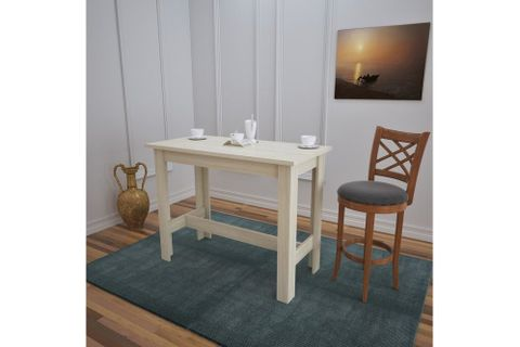 Pasific Barra 4 Seat Fixed Dining Table, Light Wood