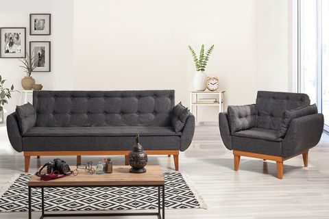 Moby Three Seater Sofa Bed, Anthracite Grey