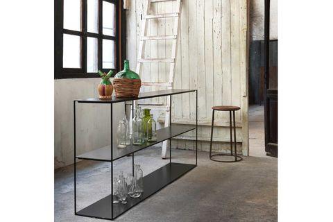 Slim Console Table, 180 cm, Black