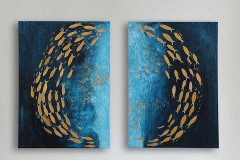 Gold Fish Loop Wall Art