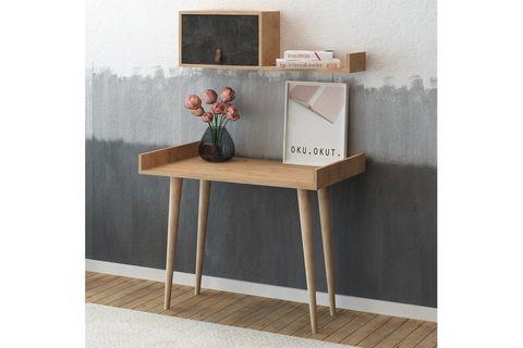 Es Mob Betong Plus Brush Study Desk, Oak