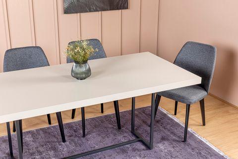 Pandora 6-10 Seat Fixed Dining Table, Sandstone