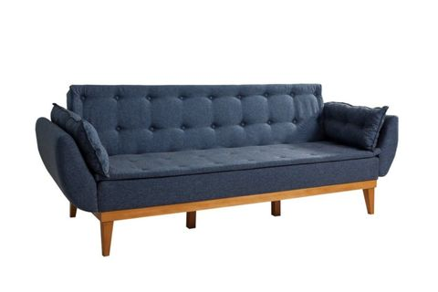 Moby Three Seater Sofa Bed, Navy Blue