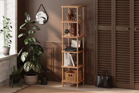 Maya Classic 6 Shelf Bookcase, (Small)