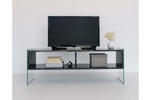 Neostyle Major TV Stand, Black Marble, 122 cm
