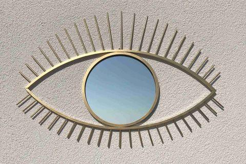 Eye Wall Mirror, Gold (Large)
