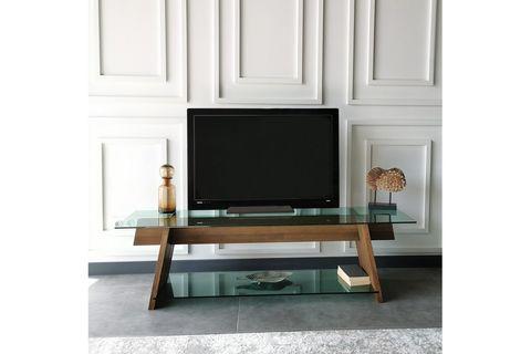 Neostyle TV Stand, Dark Wood, 158 cm