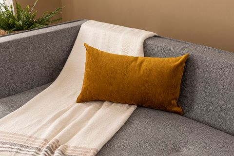 Agnes Cushion Cover, 30x50 cm, Mustard