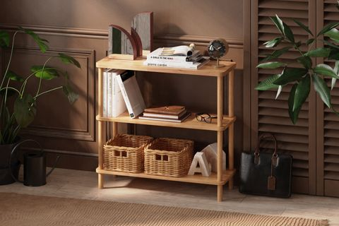 Maya Low Bookcase, (Wide)