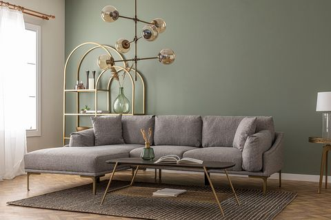 Leo Corner Sofa, Grey (Left)