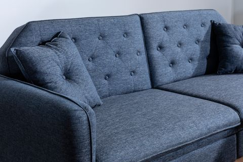 Terra Three Seater Sofa Bed, Navy Blue