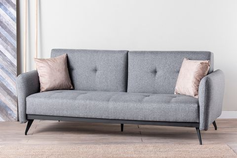 Futon Ron Three Seater Sofa Bed, Grey