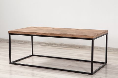 Quantum Coffee Table, Dark Wood & Black