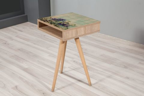 City Top Side Table, Forest Green
