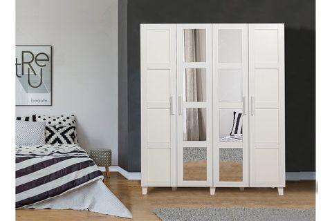 Victoria Wardrobe With Mirror, White