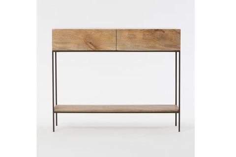 Hou Console Table, 105 cm, Light Wood & Black