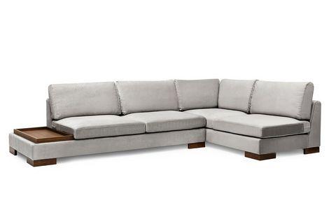 Tulip Corner Sofa, Grey (Right)