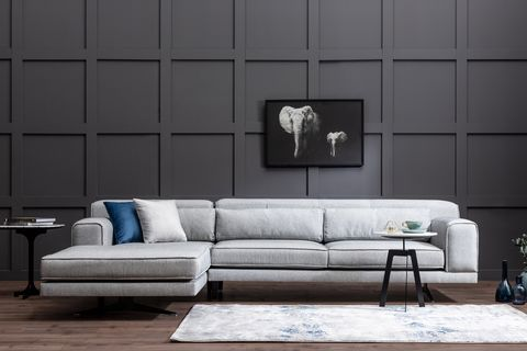 Jivago Corner Chaise Sofa, Left, Grey
