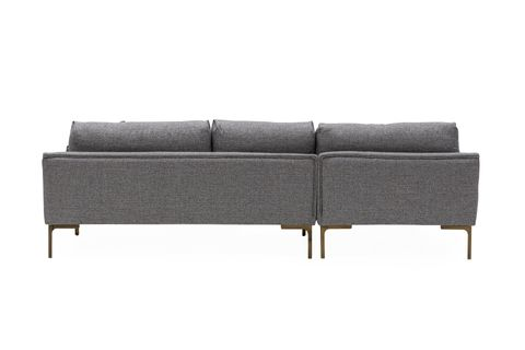 Leo Corner Chaise Sofa, Left, Grey